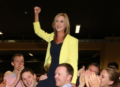 Kate Feeney after her local election success last year.
