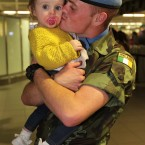 Pte. Jamie Devlin from Longford and is 16-month-old daughter Tilly.<span class=