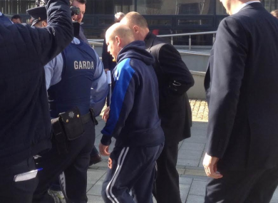 Roy Webster as he leaves court today.