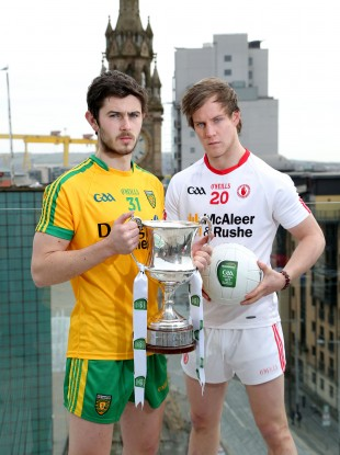 Rival captains Ryan McHugh (left) and Kieran McGeary are dreaming of Ulster U21 glory