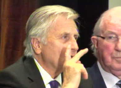 Jean Claude Trichet in Kilmainham today