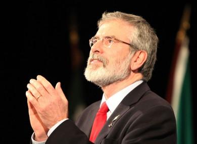 Sinn Féin leader Gerry Adams