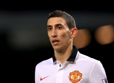 Angel Di Maria has struggled at times since moving to Man United.