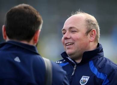 Derek McGrath will now aim to prove that Waterford can be a championship force