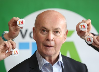 Pat Carey at a recent Yes campaign event