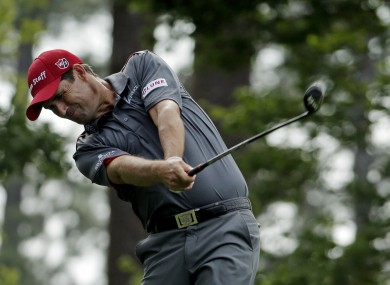 Harrington: birdied 13, 14, 15 and 16 during the second of his two rounds on Monday (file photo).