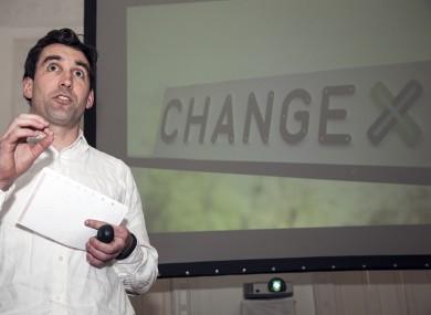 Founder Paul O'Hara launching ChangeX100 earlier this week.