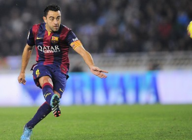 Xavi joined Barcelona as a 10-year-old.