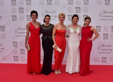 L-R Glenda Gilson, Lisa Cannon, Aisling O'Loughlin, Colette FitzPatrick and Sinead Desmond: