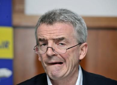 Ryanair boss Michael O'Leary.