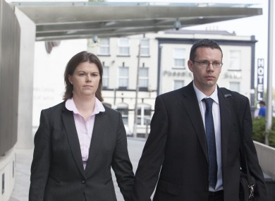 Sandra Higgins pictured today outside court.