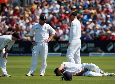 Some of England's players found the incident rather amusing.