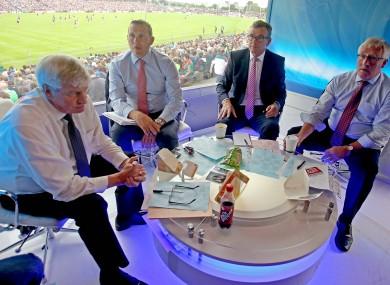RTE's Michael Lyster alongside Ciaran Whelan, Colm O'Rourke and Pat Spillane last weekend.