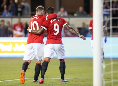 Wayne Rooney and Memphis Depay have formed an instant partnership up front.