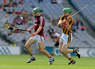 Galway's Evan Niland and Kilkenny's Tommy Walsh.