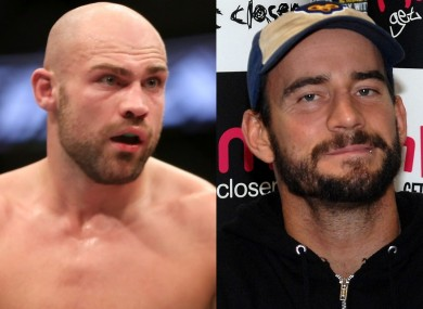 Cathal Pendred and Phil 'CM Punk' Brooks.