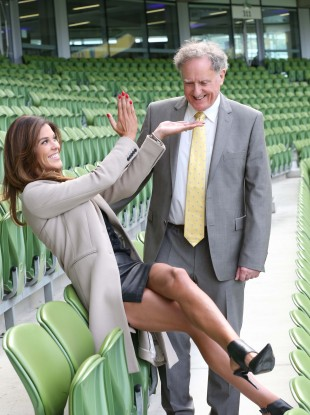 The obligatory Glenda Gilson and Vincent Browne shot at TV3's launch yesterday.