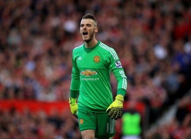 De Gea returned to the United line-up yesterday.