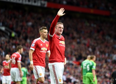 Rooney hadn't scored in the Premier League this season before today.