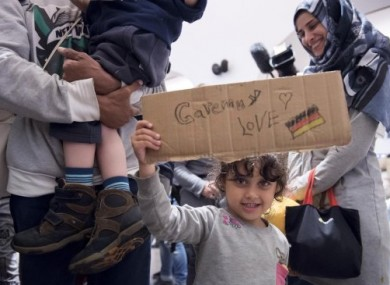 File photo: Syrian family arrives in the German town of Saalfeld.