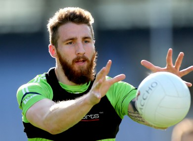 Zach Tuohy in training with the Irish International Rules squad in 2013.