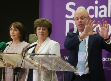 The SocDems' three leaders, Róisín Shortall, Catherine Murphy and Stephen Donnelly.