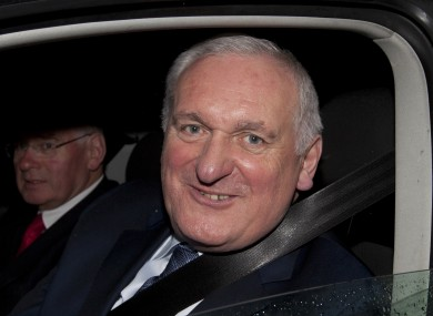 Bertie Ahern leaving the banking inquiry in July