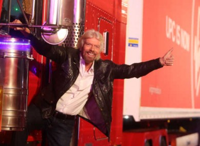 Richard Branson at the launch party for Virgin Media last week.