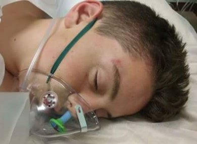 Anthony Downes (16) in Beaumont Hospital