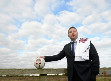 New Kildare boss Cian O'Neill was speaking yesterday at the announcement of a new three-year sponsorship deal with Brady's Family Ham.