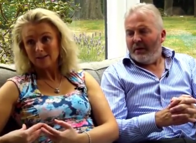Simon Binner pictured with his wife Debbie