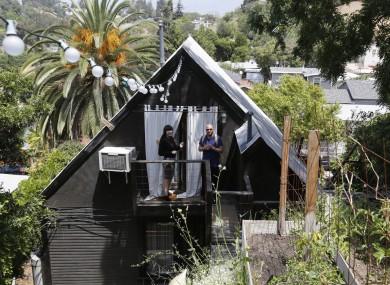 Airbnb guests at an LA rental