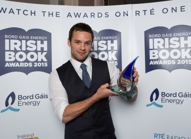 Bressie with his award.