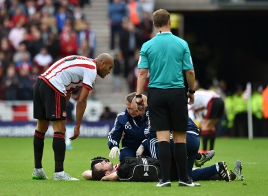 The defender sustained the injury against Newcastle last month.