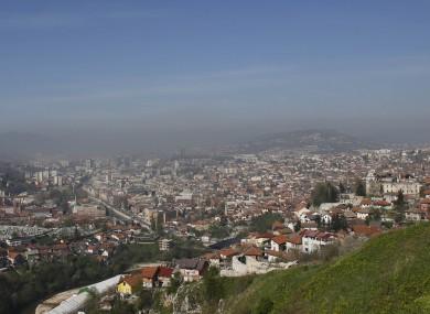 A panoramic view of Sarajevo, Bosnia-Herzegovina's capital.