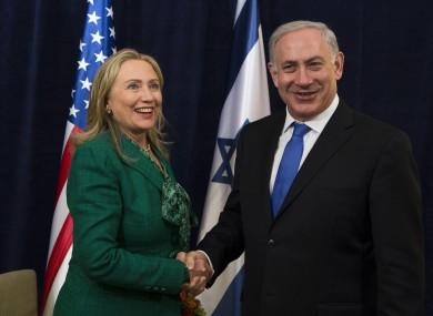 Clinton meeting Israeli Prime Minister Benjamin Netanyahu in 2012.