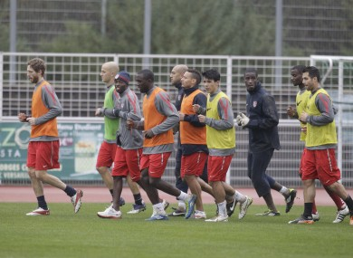 The US squad training at the Montbauron stadium in 2011.