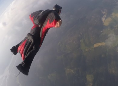 File photo of a wingsuit jumper.