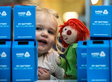 Elsa Uibh Eachach, aged 1 from Blackrock is pictured with Bosco at Aldi in Terenue.