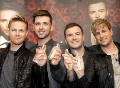 Byrne (left) with his former bandmates.
