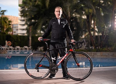 Kelly at the team's training base in Calpe last week.