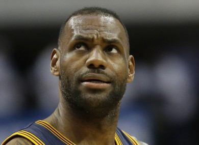 Cleveland Cavaliers forward LeBron James.