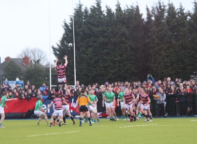 David Motyer goes up to claim a line-out.