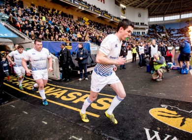Jonathan Sexton takes to the field during last week's Champions Cup game against Wasps.