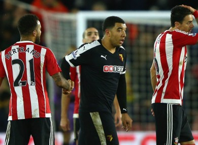 Watford striker Troy Deeney has lambasted the team's display against Southampton.
