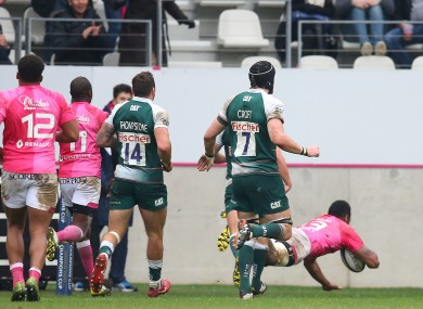 Vuidarvuwalu scored the second of Stade's five tries in Paris.