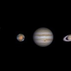 Swords, Co Dublin. A composite image of Venus, Mars, Jupiter and Saturn.<span class=