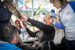 A local radio station made election candidates handle a snake live on air