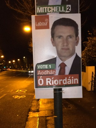 Posters in the 'constituency of death', Dublin Bay North.
