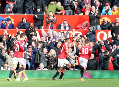 Rashford now has four goals in two senior appearances for United.